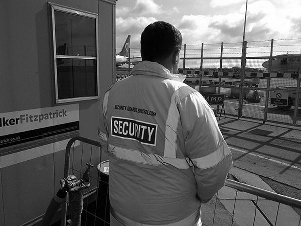 Guard at Bristol Airport